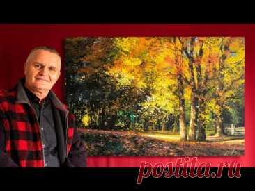 """Autumn leaves"" Acrylic. Artist - Viktor Yushkevich. #84 photos in 2021."
