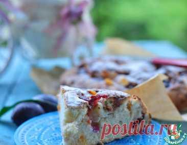 Простой и быстрый пирог со сливами – кулинарный рецепт