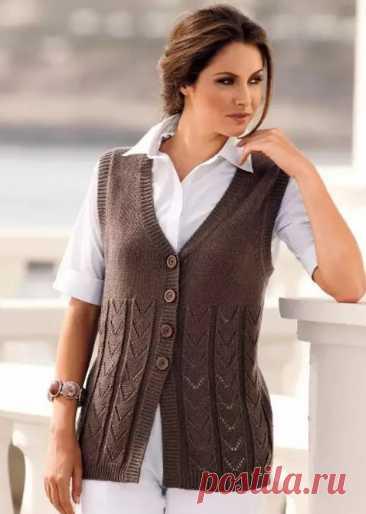 Women's sleeveless jacket spokes