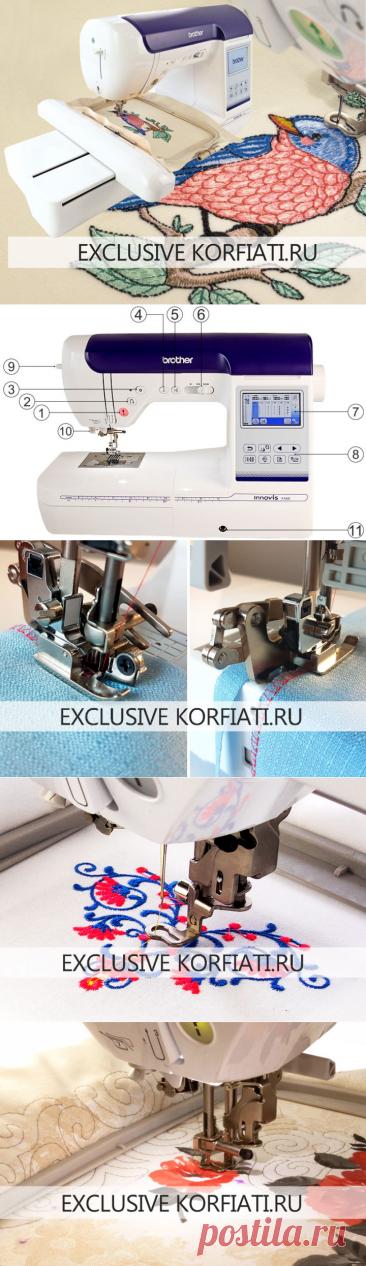 Швейно-вышивальная машина Brother Innov-is F480 - обзор Koрфиати