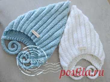 """МК подробное вязание шапочки """"Эльф"""" для ребёнка."""