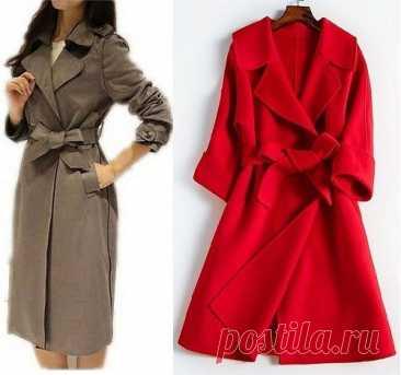 Выкройка женского пальто. Размеры евро (Шитье и крой) – Журнал Вдохновение Рукодельницы