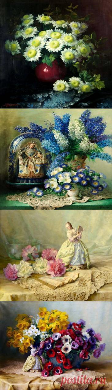 Цветочное великолепие натюрмортов Julien Stappers