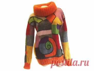 Свитер интарсия. | Вязание для женщин спицами. Схемы вязания спицами