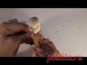 Bellwether erotic figurine. Мисс Барашкинс из полимерной глины.