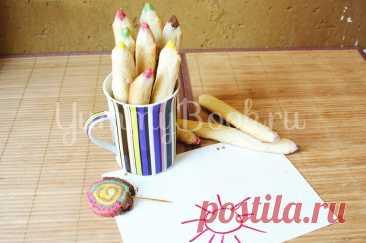 """Печенье """"Карандаши"""" - простой и вкусный рецепт с пошаговыми фото Печенье Карандаши - как приготовить быстро, просто и вкусно в домашних условиях. Пошаговый рецепт с фотографиями, подробным описанием и ингредиентами."""