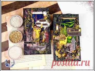 Mixed Media cards /Step-By-Step tutorial. Текстурные открытки. Мастер-класс. - YouTube