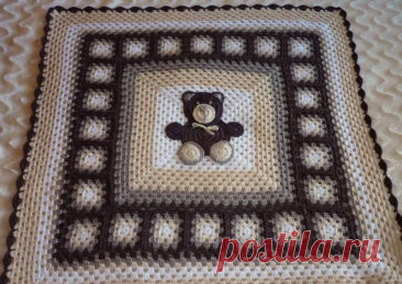 Мотивы с медвежатами для пледов крючком | 38 рукоделок | Яндекс Дзен