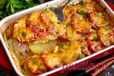 Вкусное блюдо в духовке из мясного фарша и картофеля | Рецепты салатов и вкусняшек | Яндекс Дзен
