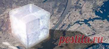 Примерно так выглядел бы куб изо льда весом в 1 триллион тонн. Каждая сторона куба имела бы длину 10 км. За последние 20+ лет Земля потеряла почти 30 таких «кубиков». Какое значение во всем этом играют ледники и другие винтики ледяной экосистемы нашей планеты – рассказываем в нашем материале.