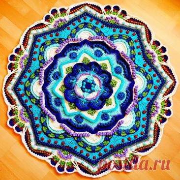 Буйство красок в вязанных мандалах - они покорят Вас своим цветом. Схемы, идеи и примеры! | Юлия Жданова | Яндекс Дзен