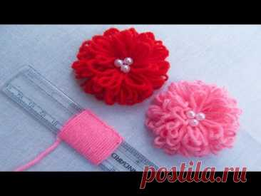Hand Embroidery Amazing Trick# Easy Flower Embroidery Trick with Scale# Sewing Hack - YouTube