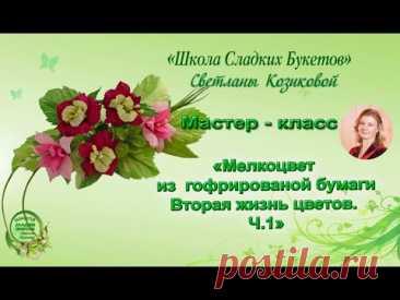 Мастер - класс. Мелкоцвет из гофрированной бумаги своими руками. Ч 1. Вторая жизнь цветов.