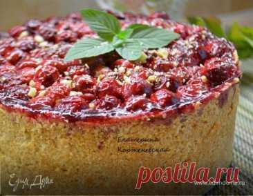 Немецкий творожный пирог с вишней, пошаговый рецепт на 5185 ккал, фото, ингредиенты - Екатерина Корженевская