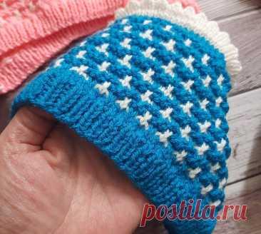 Связать шапочку малышу по типу чепчика - конкретный пример с описанием   Вязалушка   Пульс Mail.ru