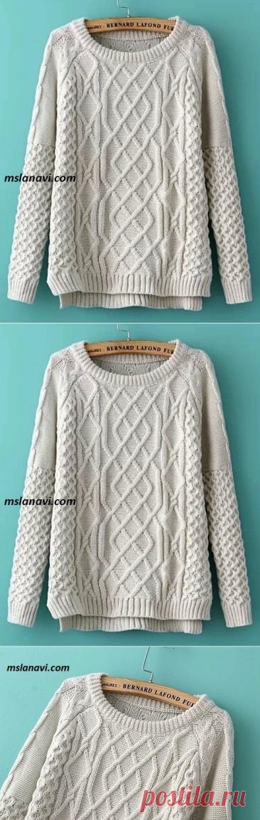 Вязаный свитер оверсайз из AliExpress - Вяжем с Лана Ви