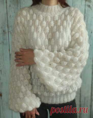 Восхитительный объёмный узор для вязания теплых вещей