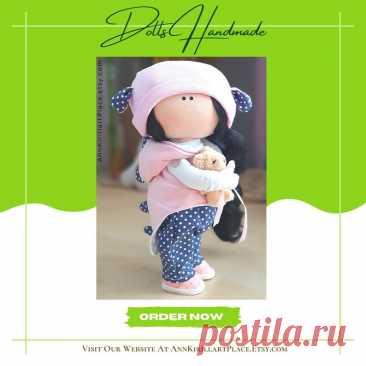 Tilda Doll Handmade Fabric Decor Doll Textile Rag Doll | Etsy