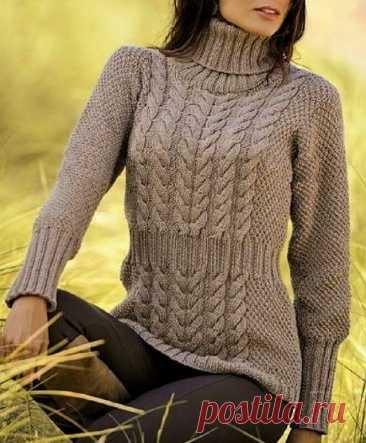 Красивые стильные свитеры с «косами» (с описанием) | Идеи рукоделия | Яндекс Дзен