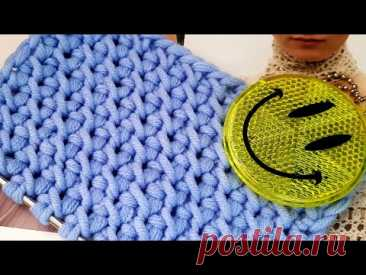 Вяжем эффектный фоновый узор спицами 🍓 knitting pattern. - YouTube
