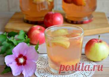 Компот из яблок и слив на зиму рецепт с фото пошагово и видео