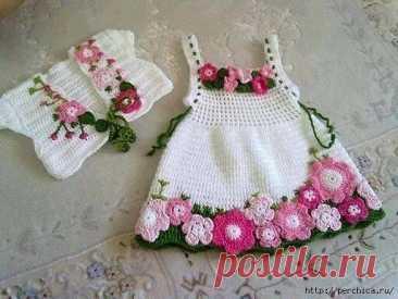 Очаровательное детское платье *Весна* .