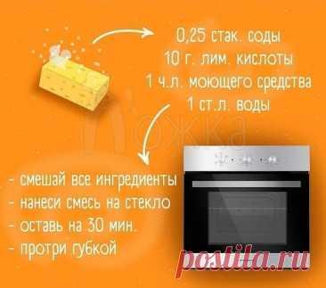 Как очистить стекло духовки