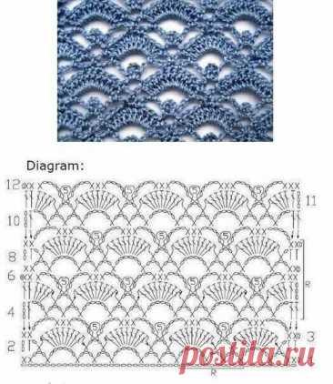 ТОП-20! Самые красивые узоры крючком со схемами | Факультет рукоделия | Яндекс Дзен