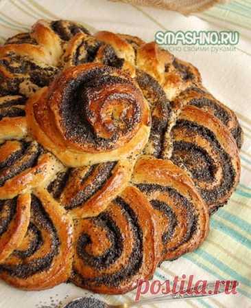 Пирог с маком из дрожжевого теста - рецепт с фото пошагово