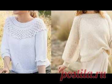 Вязаные женские модели спицами  - Knitted women's models with knitting needles - YouTube