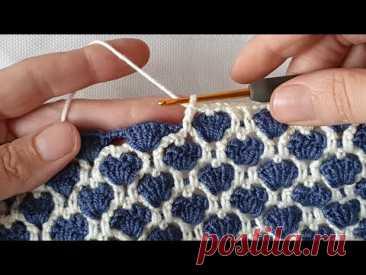 şahane bir yelek battaniye örgü modeli crochet knitting