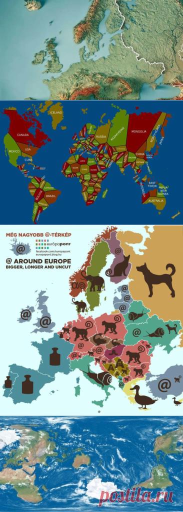 35 карт, которые изменят ваш взгляд намир - Hi-Tech Mail.ru