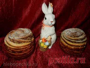 Кулич-краффин «Ваниль-шоколад».