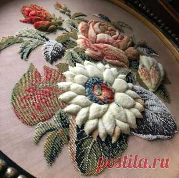 Винтажная вышивка, как предмет ценной коллекции: нашла блог, где девушка делится своими сокровищами | MIAZAR | Яндекс Дзен