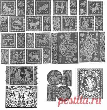 """Альбом схем """"Льняное кружево"""" Альбом филейных схем """"Льняное кружево"""": игральные карты, знаки зодиака и другое"""