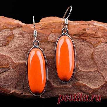 Модные оранжевые овальные серьги в стиле бохо в стиле ретро для женщин, винтажные этнические длинные серьги-подвески серебряного цвета, Изящные Ювелирные изделия, подарок для женщин | Украшения и аксессуары | АлиЭкспресс