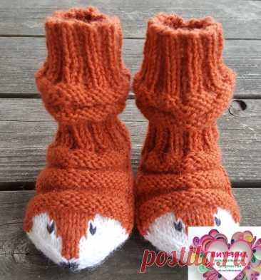 Хотите связать прикольные носочки для своих малышей - есть идея и описание...