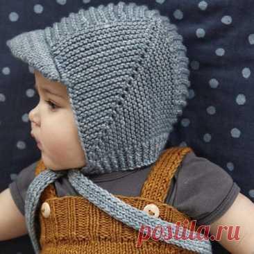 Вяжем шапочку с козырьком для малыша
