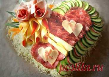 Идеи оформления мясной нарезки - пошаговый рецепт с фото. Автор рецепта Светлана . - Cookpad