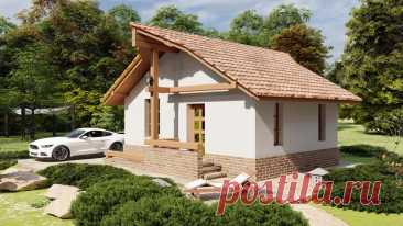 ЗОЛОТНИК 29 м2 - проект домика 5х7 для жилья или хозяйства   Инваполис - проекты домов   Яндекс Дзен