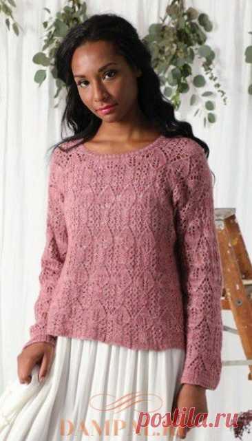 Ажурный пуловер «Vernal Awakening»