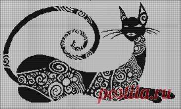 Схемы \»Котики и зайчики\» для филейного вязания | Klubka.net