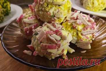 Крабовые шарики с плавленым сыром, яйцом и чесноком, рецепт с фото и видео.