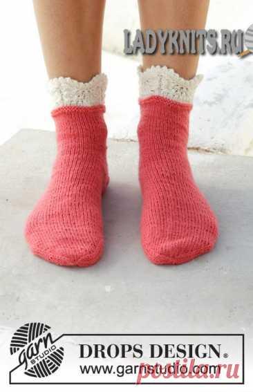 Красивые простые женские носки вязаные спицами