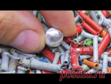 Серебро 99% из 100 грамм трубчатых конденсаторов