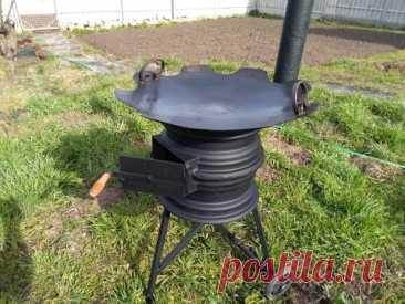 Мобильная печь для казана. Мой вариант