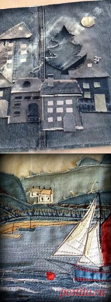Восхищение. Восторг. Картины из старых джинсов - Сам себе мастер - медиаплатформа МирТесен