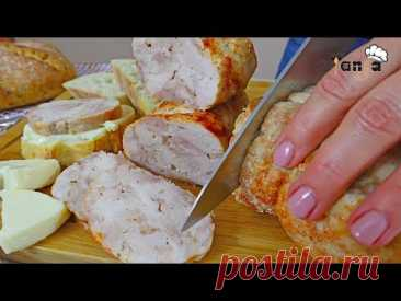 Приготовьте салями из курицы по-домашнему! колбасу больше никогда не купишь - рецепт без добавок