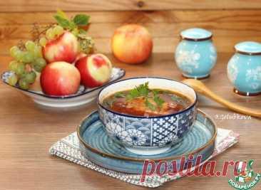 Куриный суп со свеклой и капустой Кулинарный рецепт
