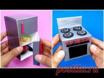Миниатюрный холодильник, плита и раковина | как сделать вещи для миниатюрной кухни